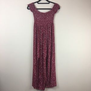 Red floral stretchy dress fits size Small - large